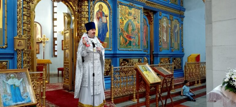 Престольный праздник в день памяти Иоанна Крестителя